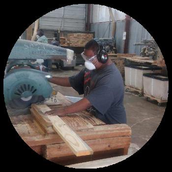 hope services woodshop worker