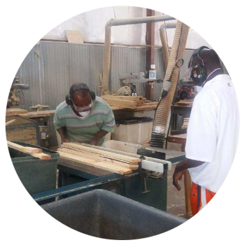 hope services woodshop workers